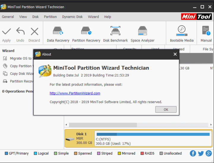 MiniTool Partition Wizard Technician 12.5 Crack + License Key Free 2021
